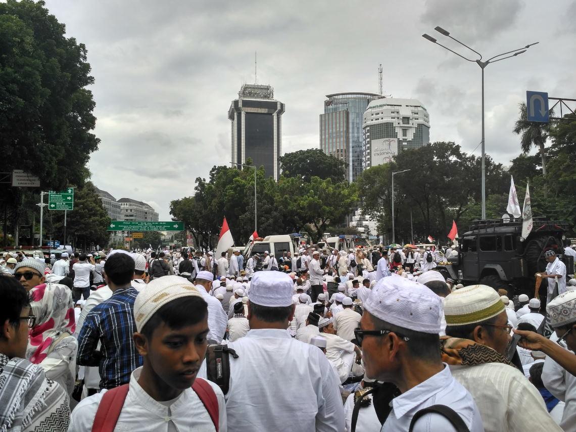 Massa Aksi 212 Penuhi Bundaran HI-Monas