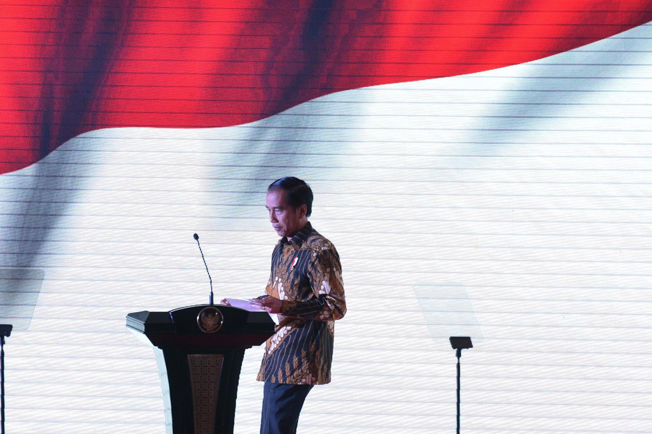 Presiden Jokowi Hadiri Pelantikan Kader Partai Hanura