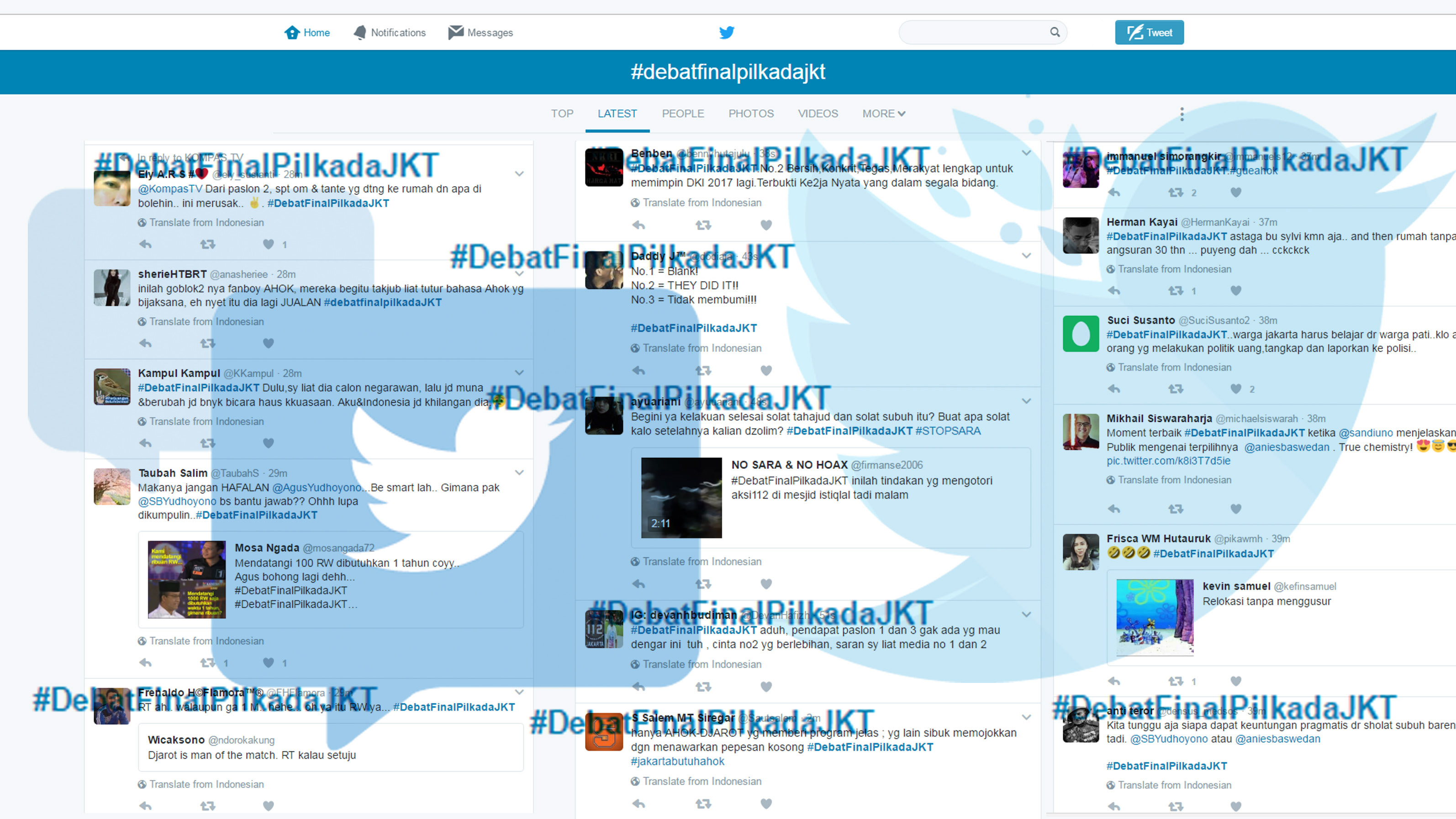 Riuh Rendah Debat Cagub Jakarta Di Twitter Tirto Id