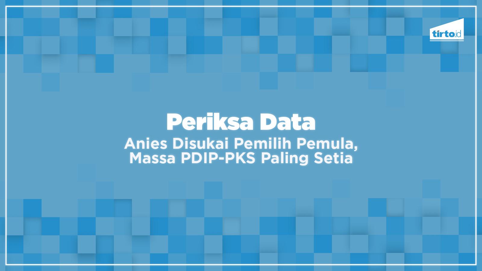 Anies Disukai Pemilih Pemula, Massa PDIP-PKS Paling Setia