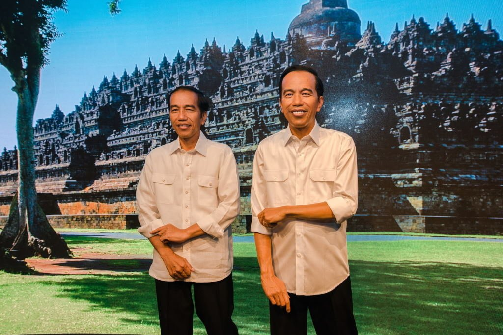 Patung Lilin Presiden Jokowi Sudah Berganti Baju Batik