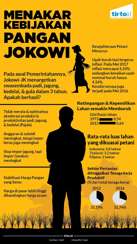 Infografik Menakar kebijakan pangan jokowi