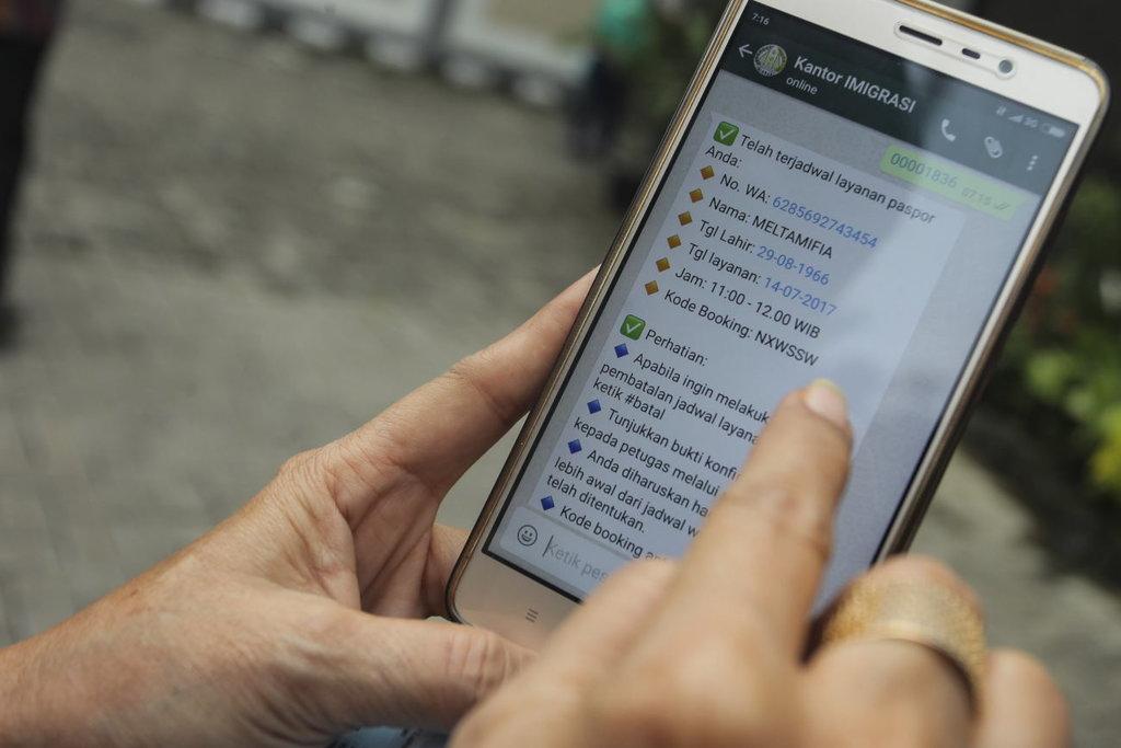 Pendaftaran Paspor Bisa via Whatsapp Mulai Hari Ini
