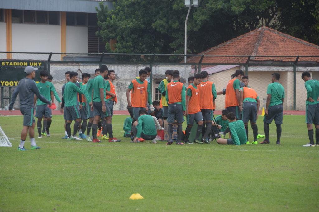 Timnas U-19 Tahan Imbang PSS Sleman di Uji Coba Perdana