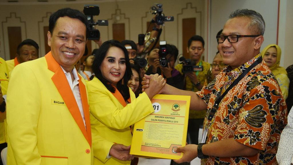 Partai Berkarya Binaan Tommy Soeharto Daftar Pemilu 2019
