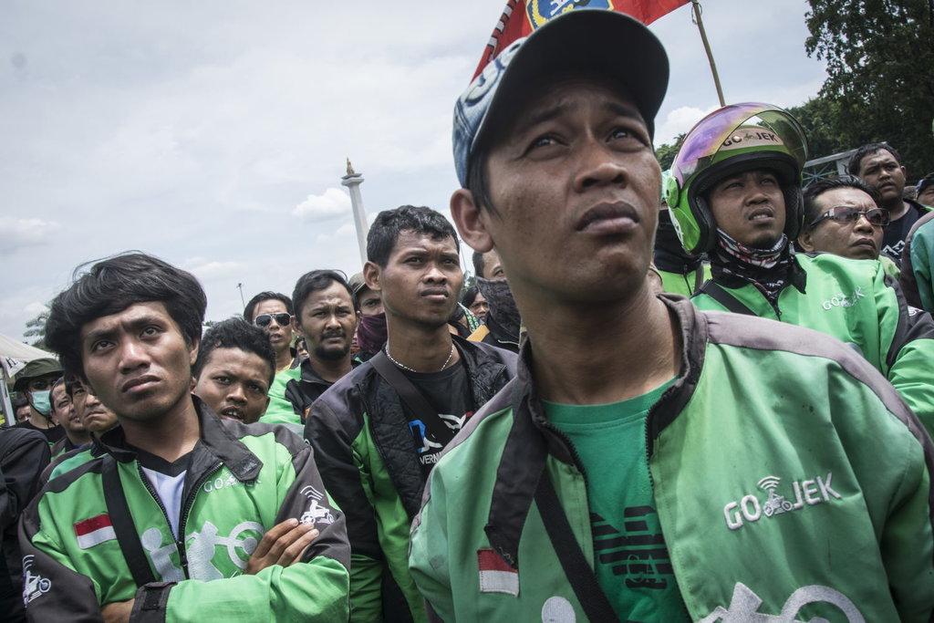 Sopir Ojek Online Berunjuk Rasa Tuntut Payung Hukum Soal Tarif