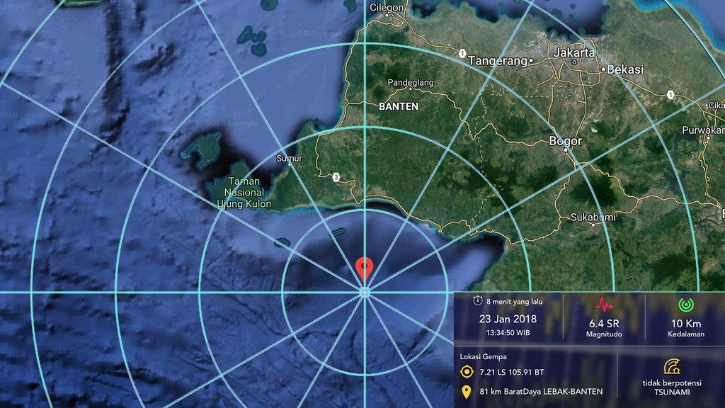 Gempa Bumi di Banten Sempat Bikin Kaget dan Panik Warga Jakarta