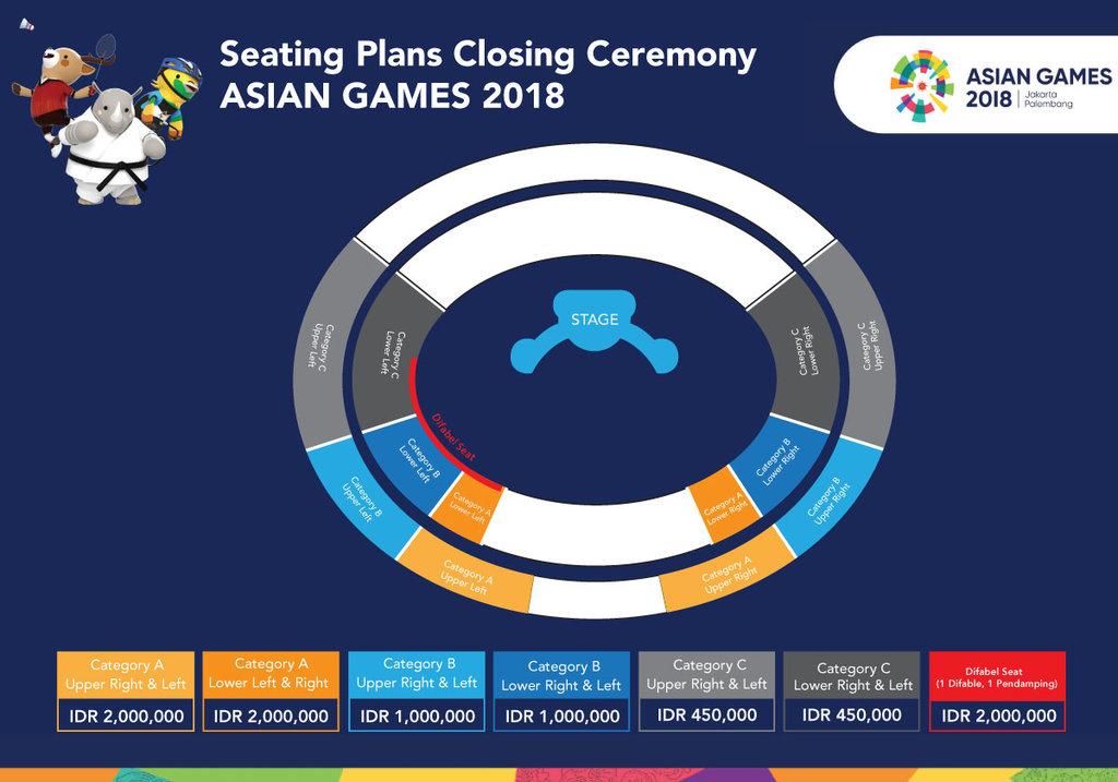 Tiket Closing Ceremony Asian Games