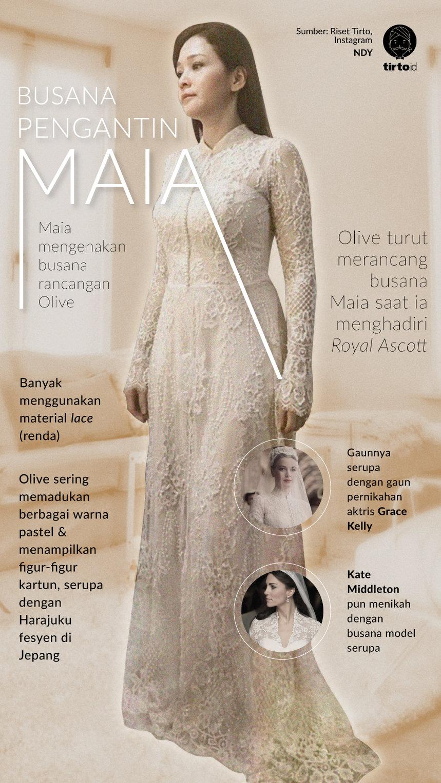 Gaun Pengantin Maia Estianty Yang Anggun Itu Rancangan Olive Tirto Id