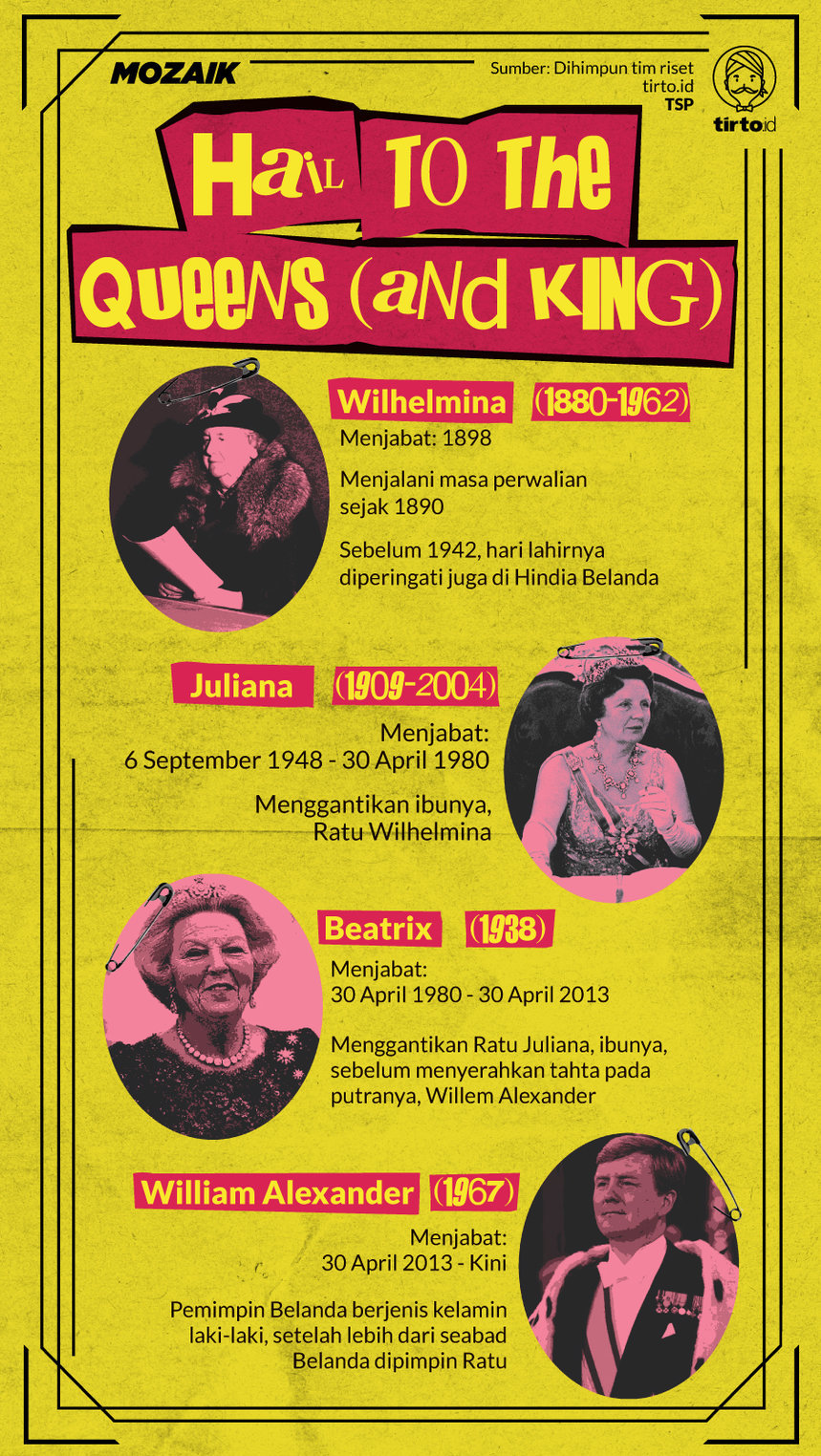 Infografik Mozaik Hail To the Queens