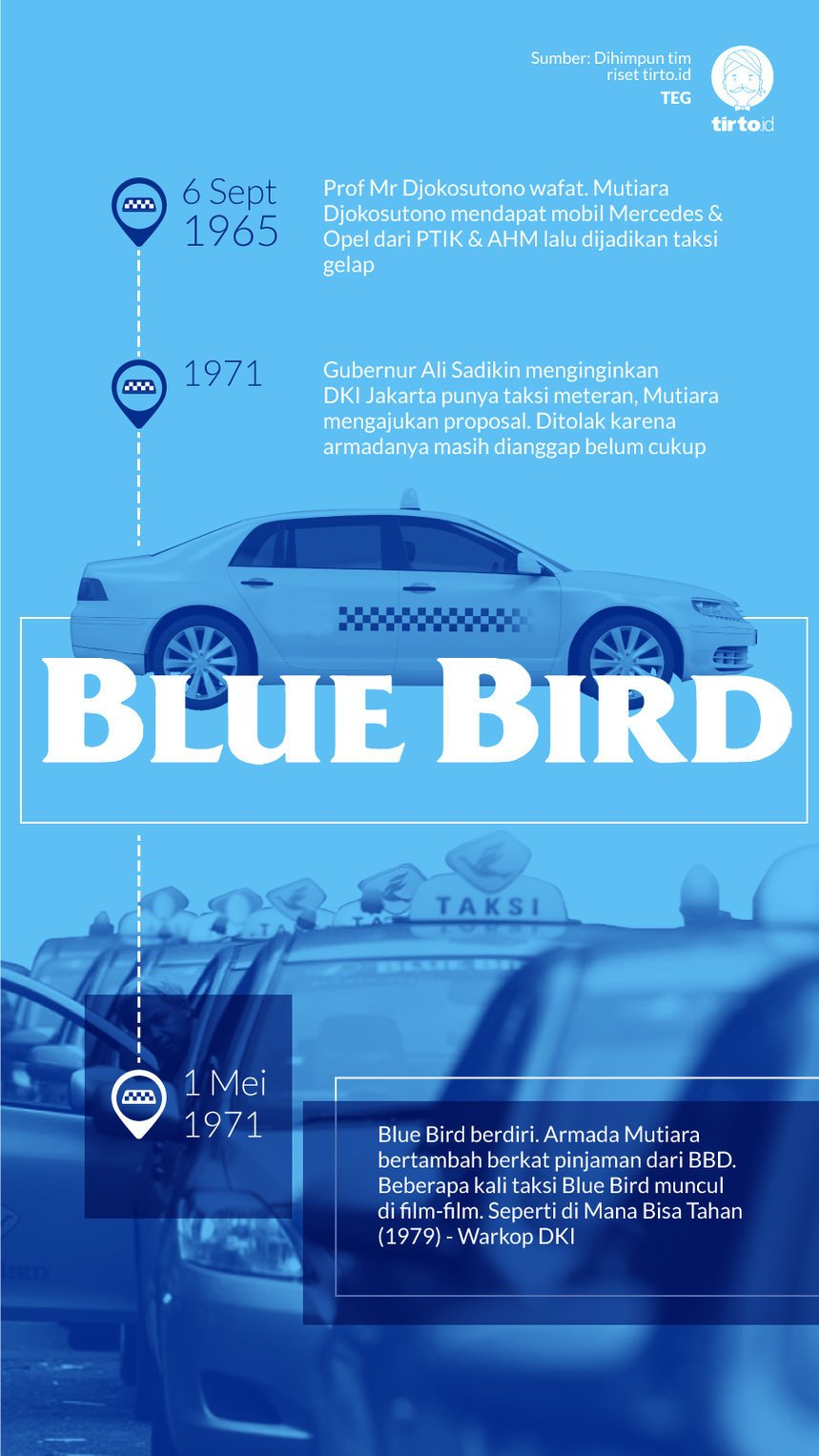 Infografik Blue Bird