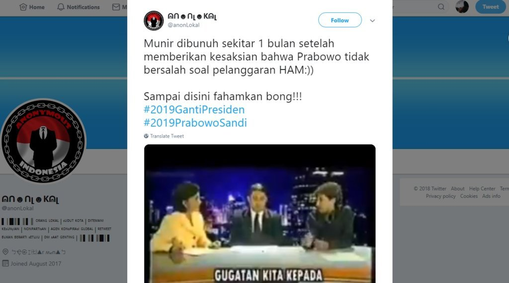 Benarkah Munir Dibunuh Setelah Menyatakan Prabowo Tidak Bersalah?