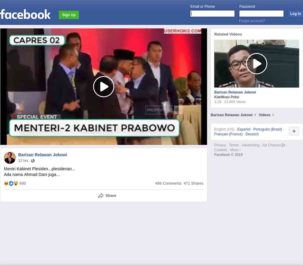 Fact check Menteri Prabowo