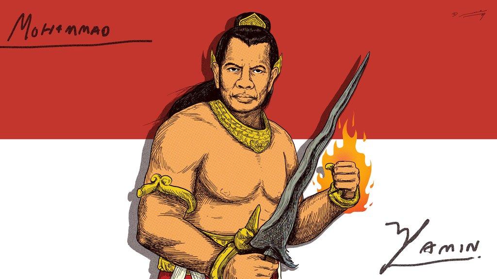Gambar Mohamad Yamin Kongres Sumpah Pemuda Klaim Tanah Air Dan Muka Gajah Mada Ala Mohammad Yamin Tirto Id