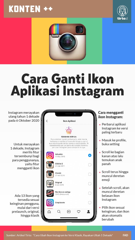 Infografik Ganti Icon Intagram