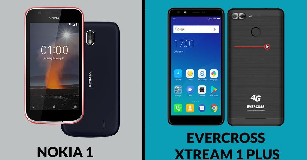 Perbandingan Spesifikasi Nokia 1 Dan Evercoss Xtream 1 Plus Corong