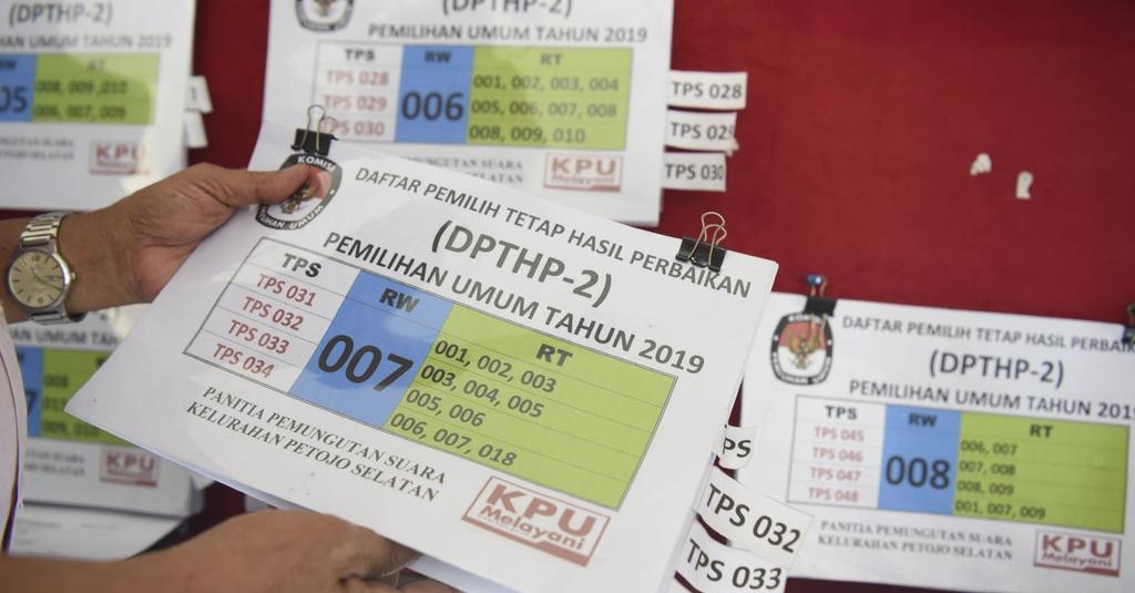 Pemilu 2019: Surat Suara di Tangerang Tertukar Antardapil