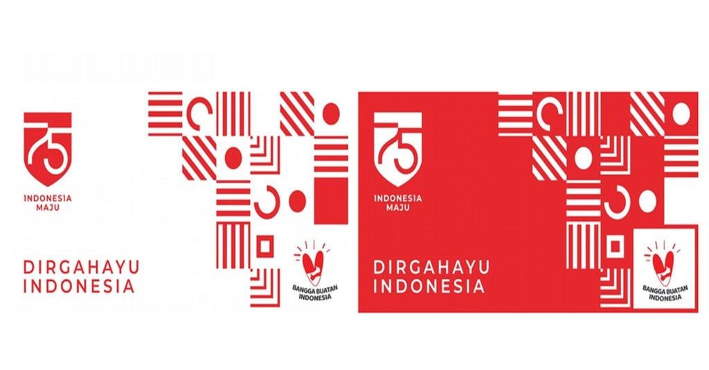 logo hut ri ke 75 setneg ratio