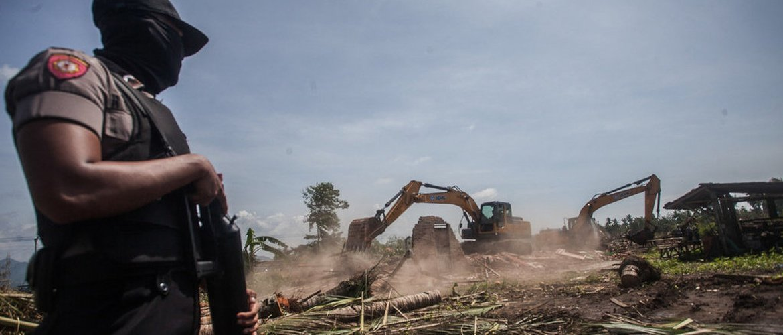 Aksi Gebuk Aparat saat Pengosongan Paksa Lahan Bandara Kulon Progo