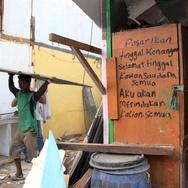 1389 Polisi Amankan Penggusuran Pasar Ikan Jakarta