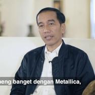 Jokowi Cerita Band Favoritnya Metallica Lewat Vlog