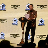 Buka Munaslub Golkar, Jokowi Isyaratkan Restui Airlangga Hartarto
