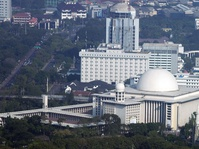 Raja Salman Beri Cendera Mata Kaligrafi Emas untuk Istiqlal
