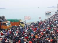 Arus Balik Pelabuhan Bakauheni Lancar Meski Dilanda Hujan