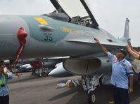 AS Hibahkan 24 Pesawat F-16, Dua Sudah Tiba di Iswahjudi