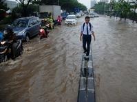 Banjir di Bandung Utara Sebabkan Lalu Lintas di Kota Bandung Macet
