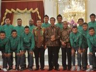 Timnas Sepakbola Indonesia Dijamu Presiden