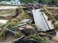 Banjir Rendam Kawasan Pesisir Pelabuhan Ratu di Sukabumi