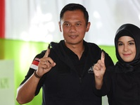 Agus Yudhoyono Temui Ahok di Mako Brimob