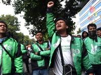 Pengemudi Ojek Online Unjuk Rasa Depan Istana Merdeka Siang Ini