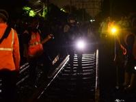 Evakuasi kecelakaan kereta listrik
