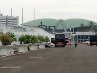 Kebakaran Gedung Nusantara III DPR Sedang Dipadamkan