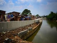 Pembangunan Turap Sungai Ciliwung di Bukit Duri