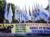 Aksi Buruh Bubar dan Batal Menginap di Balai Kota