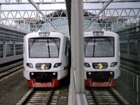 Uji Coba Kereta Bandara Railink
