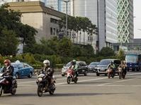Saat Ribuan Pemotor Melintasi Medan Merdeka Barat dan MH Thamrin.