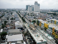 Progres Pembangunan LRT Kelapa Gading-Velodrome