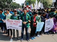 Aksi Mahasiswa Menolak UU MD3