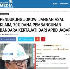 Benarkah 70% Dana Pembangunan Kertajati dari APBD Jabar?