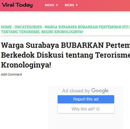 Kronologi Pembatalan Diskusi Terorisme yang Disebut Melibatkan HTI