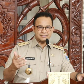 Anies Serukan Warga Jakarta Pakai Masker Kain Dua Lapis