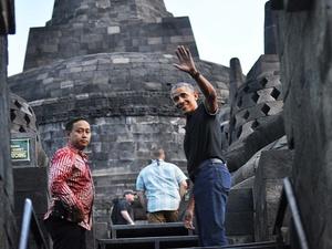 Obama Kunjungi Borobudur