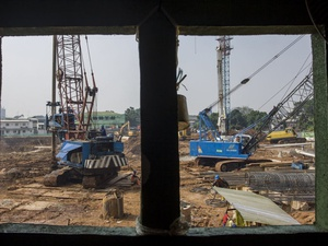 Petugas Forensik Polri Selidiki Insiden di Proyek Pasar Rumput