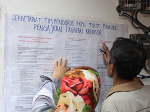 Nilai Tagihan Korban First Travel Hampir Rp1 Triliun