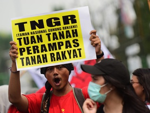 Aksi Peringatan Hari Tani Nasional ke-57