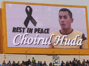 Laga Indonesia vs Guyana sebagai Penghormatan untuk Choirul Huda